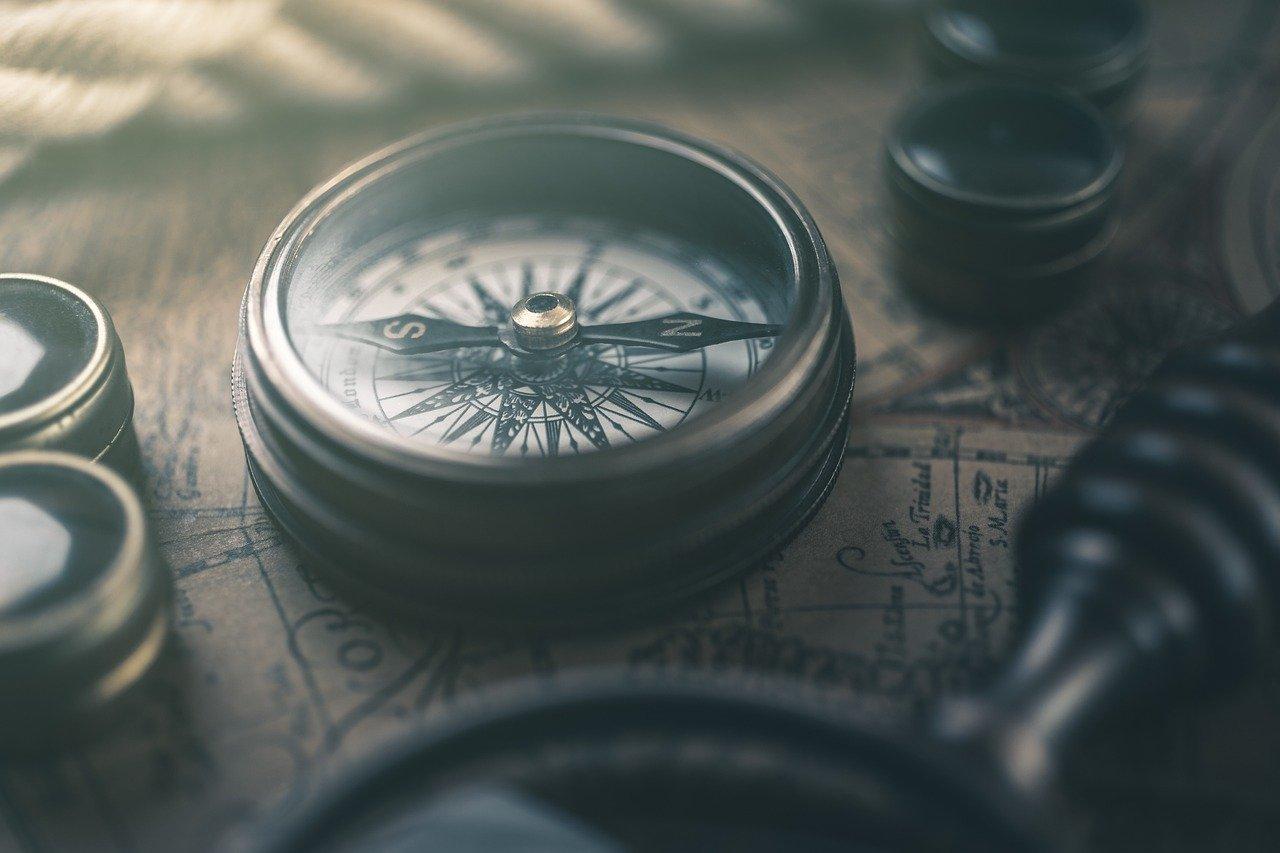 compass, map, retro